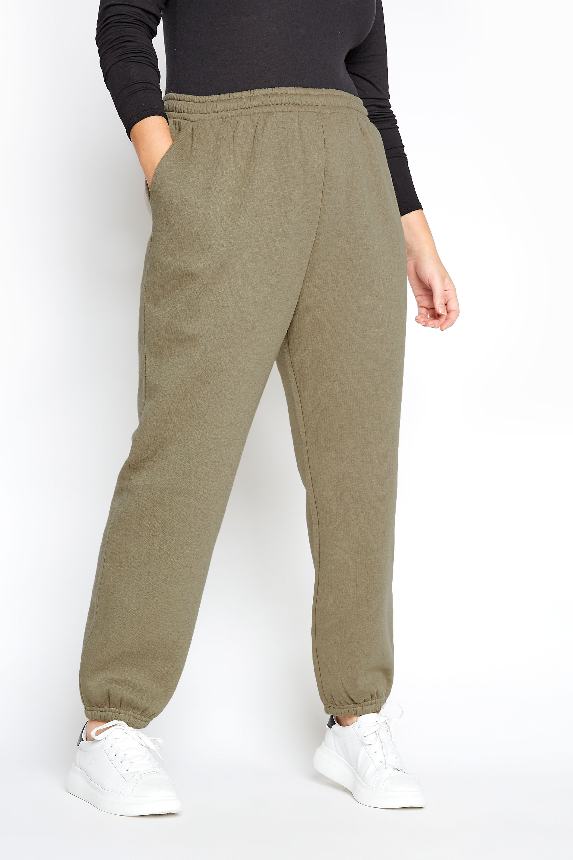 LIMITED COLLECTION Khaki Cotton Jersey Joggers