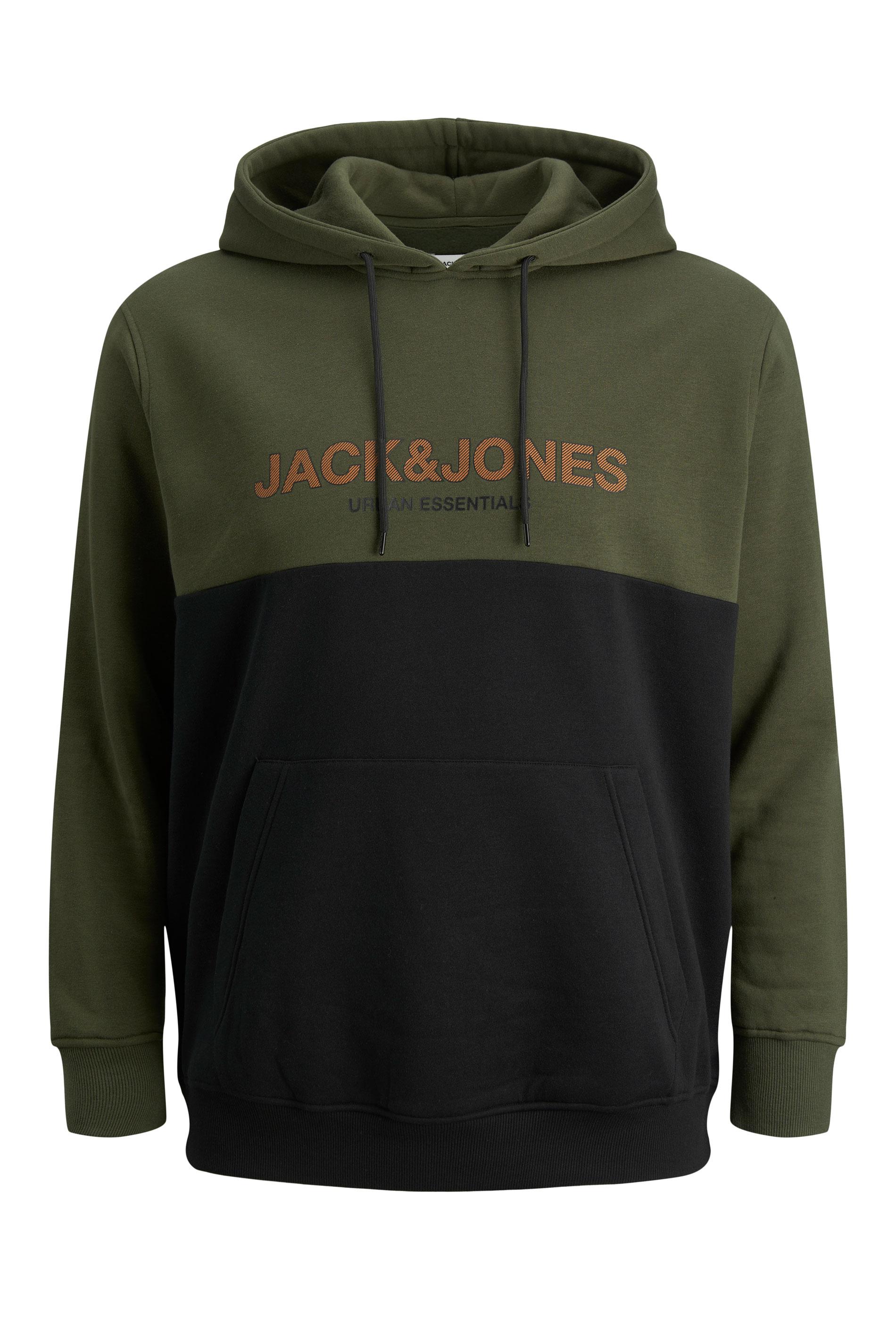 JACK & JONES Green Colour Block Hoodie_F.jpg