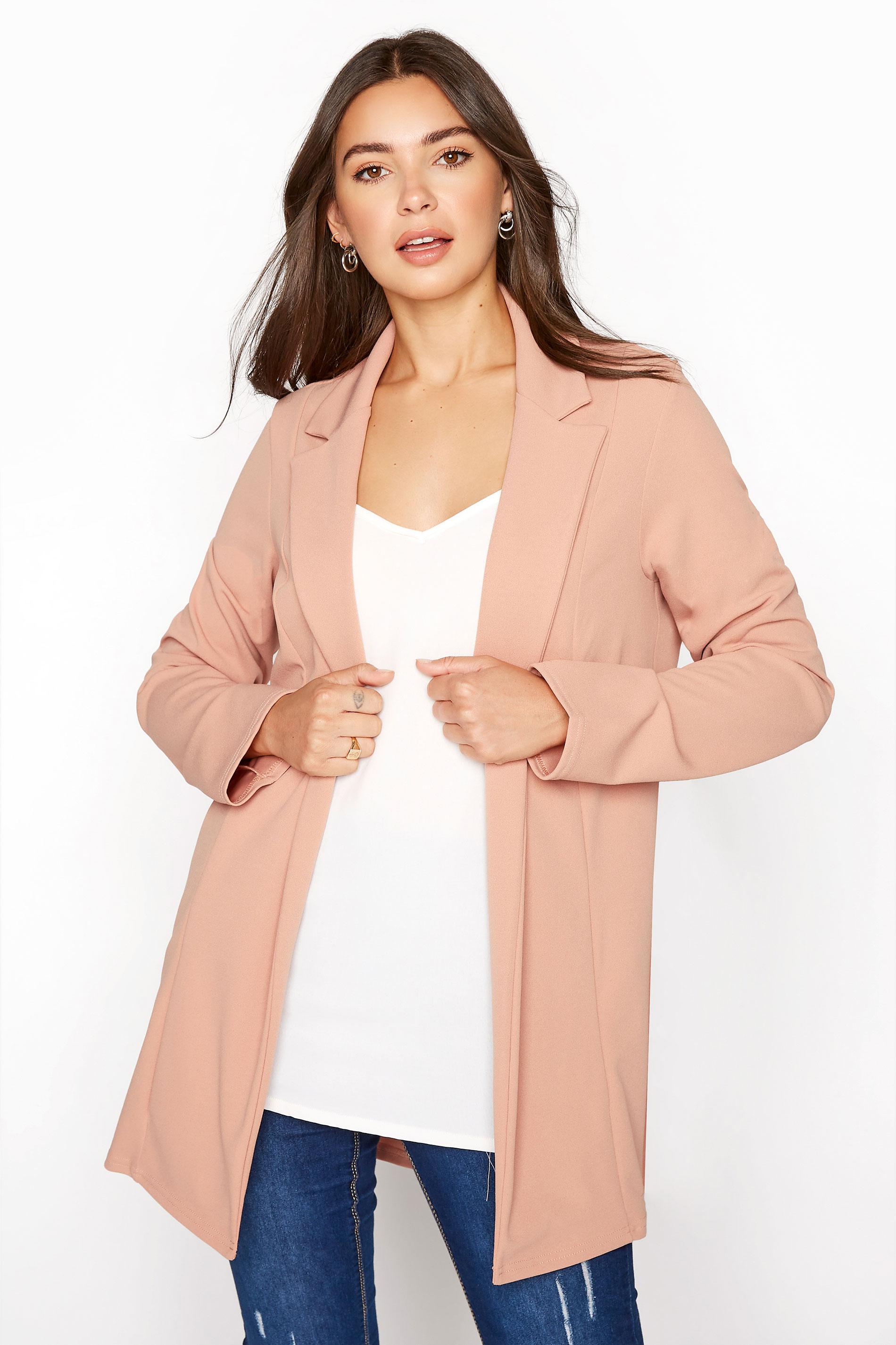 LTS Pink Scuba Longline Blazer