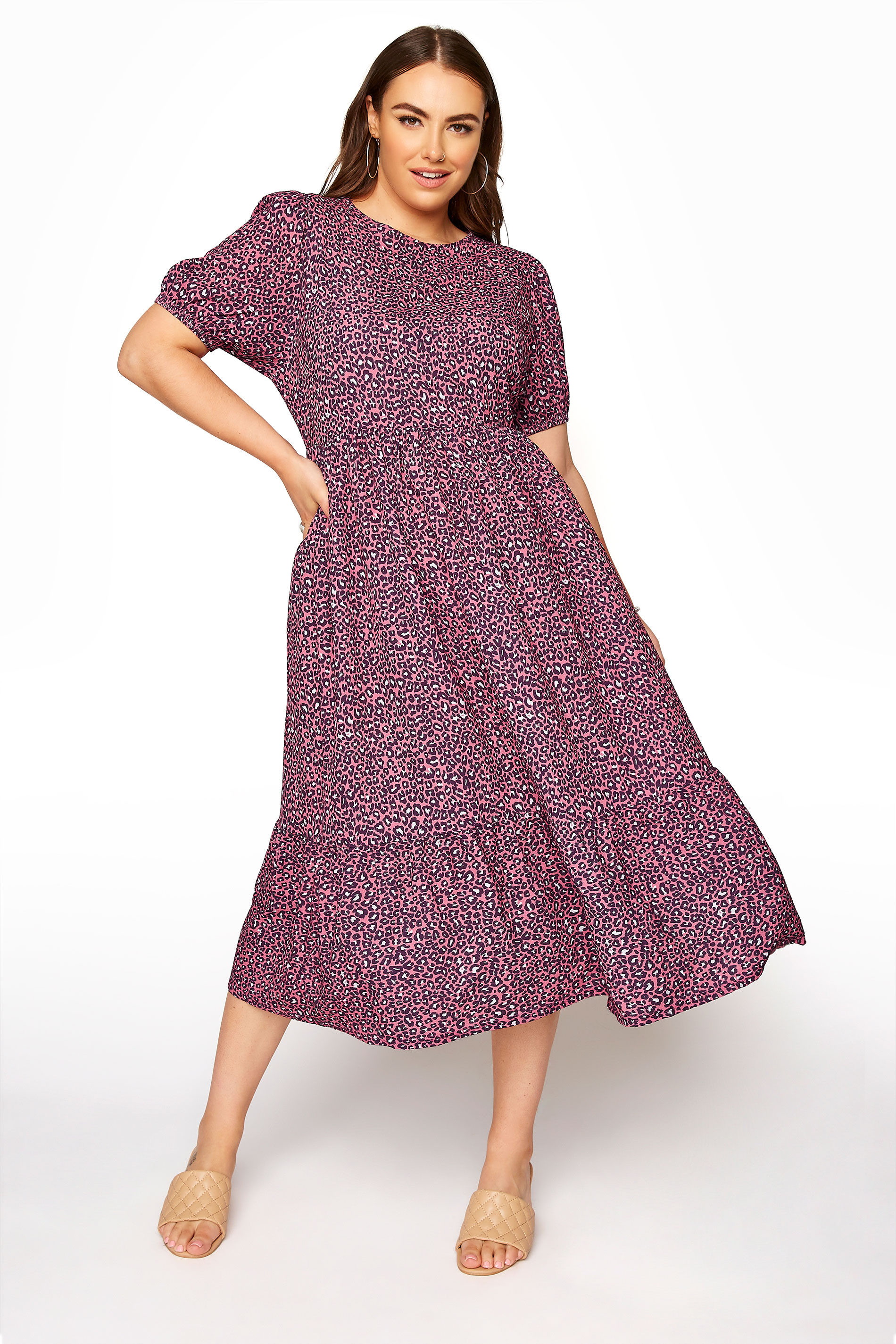YOURS LONDON Mulberry Animal Print Smock Dress