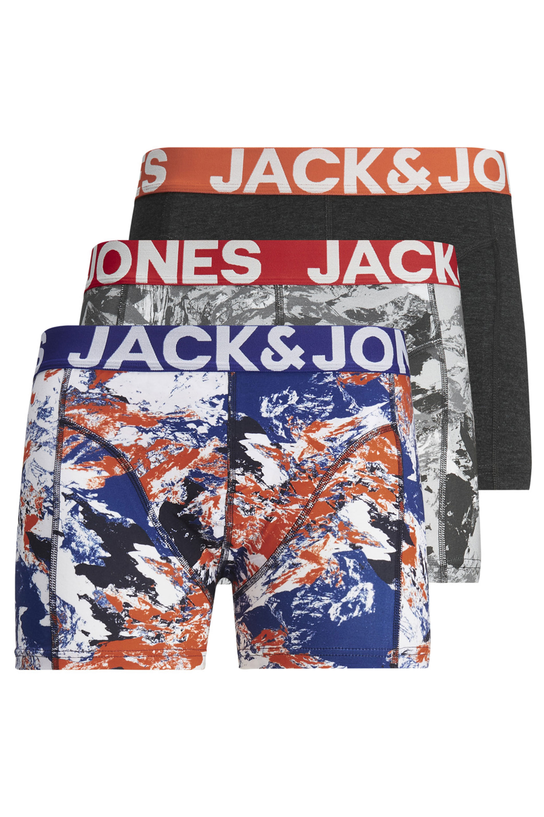 JACK & JONES 3 PACK Multi Camo Boxers