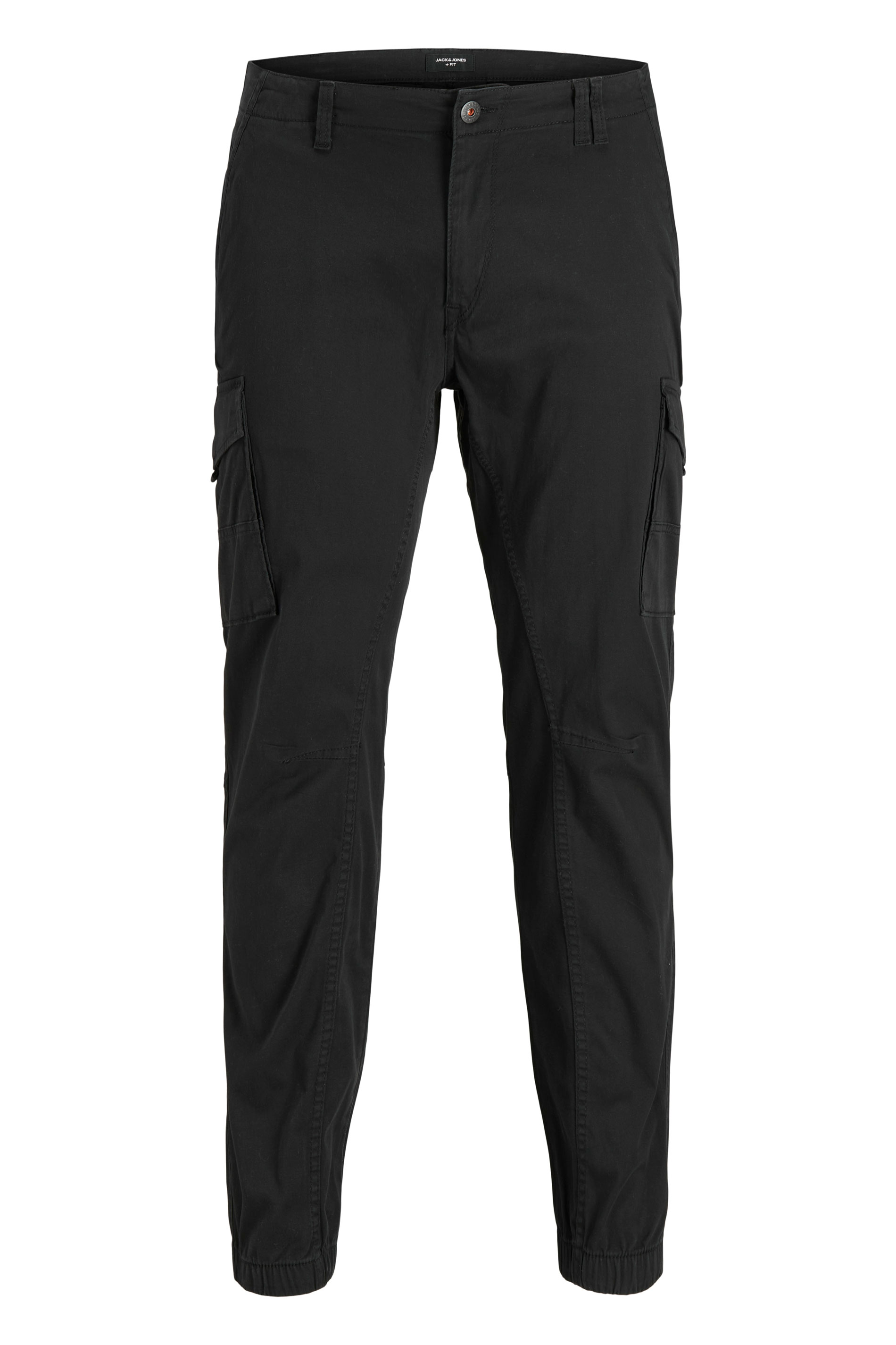 JACK & JONES Black Cargo Trousers