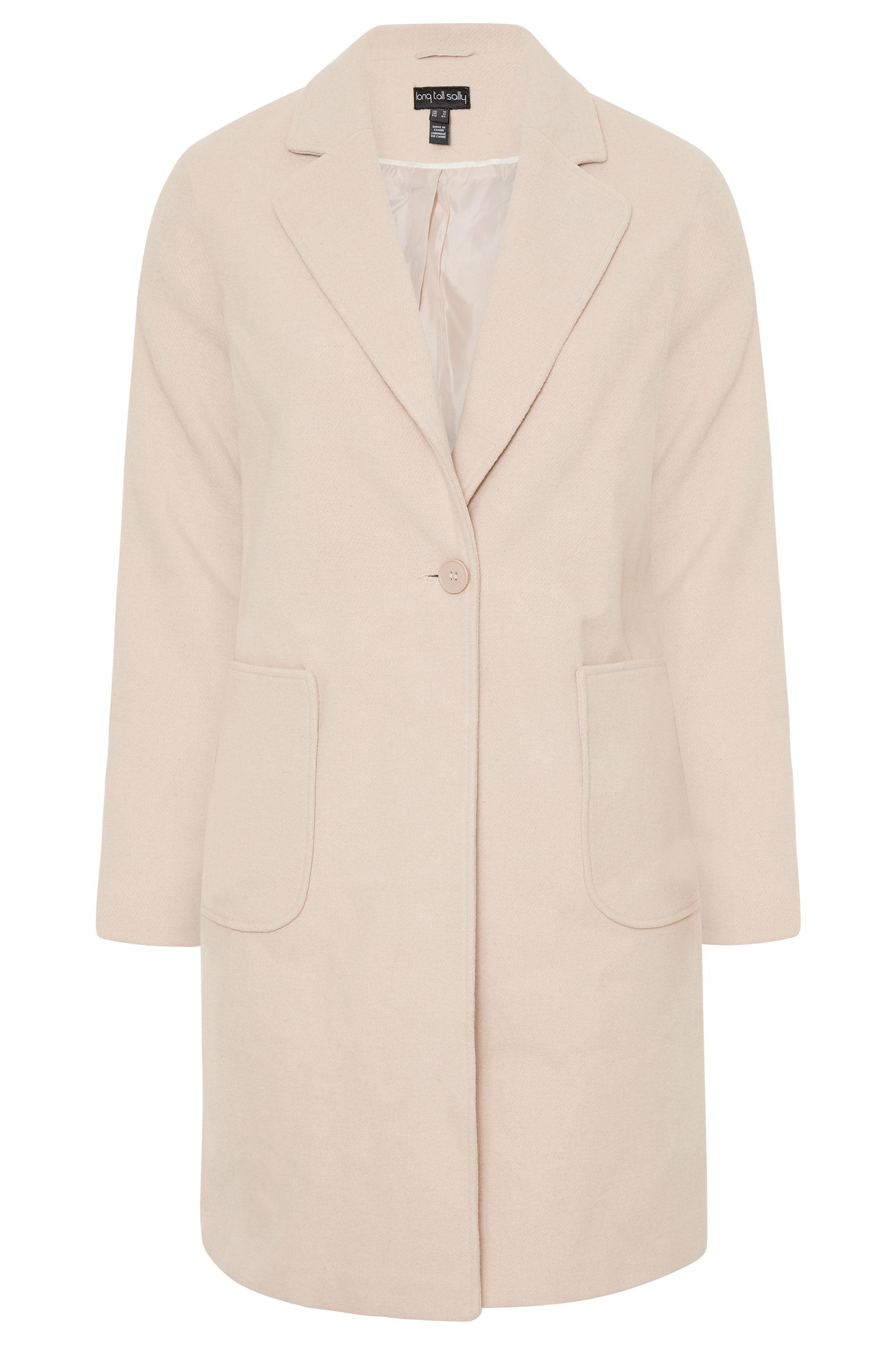 Pale Pink Shetland Twill Coat